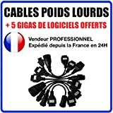 Kit 8 Cables LKW/TRUCKS kompatibel Autocom/Delphi CDP + CDP Pro DS150 Test