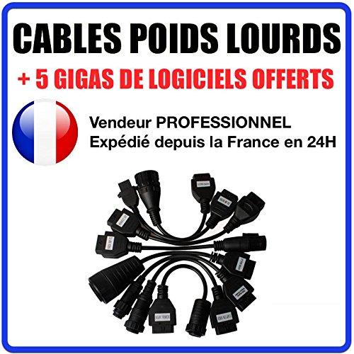 ds150 delphi Kit 8Cables LKW/TRUCKS kompatibel Autocom/Delphi CDP + CDP Pro DS150