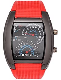 LED-Licht Aviation Pilot Tacho Dash Herren Binär Digital Armbanduhr