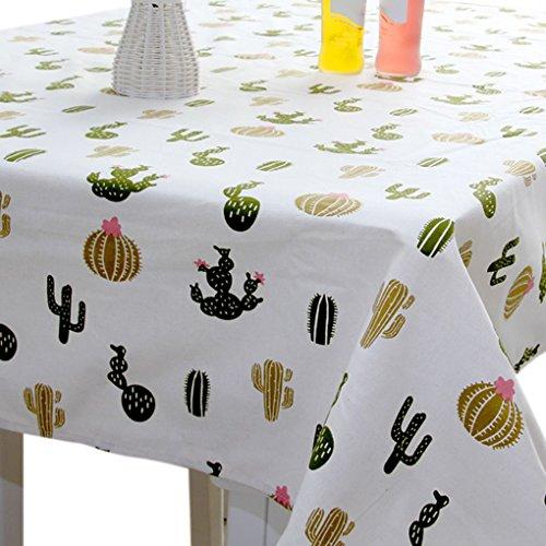 Sunlera Cactus Muster Tischdecke Rechteck Tischdecke Abdeckung 140x180cm für Heim Esszimmer Café
