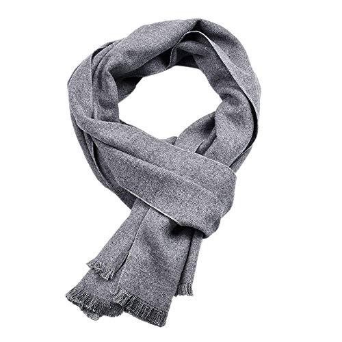 Bufanda de invierno para hombre cálido doble fino sólido bufandas algodón cálido marca de lujo borla...