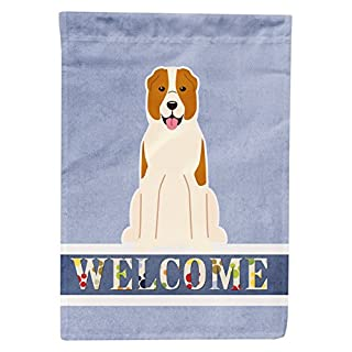 Caroline's Treasures Central Asian Shepherd Dog Welcome Flag Canvas House, large, Multicolor