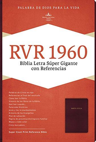 Rvr 1960 Biblia Letra Super Gigante, Borgona Piel Fabricada