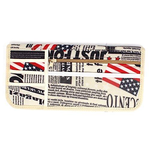 Preisvergleich Produktbild Beige Auto LKW amerikanische Flagge Detail Organizer CD DVD Visor Halter