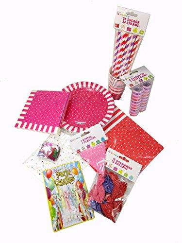 /lila/rosa/rot 93 tlg. Gartenparty, Geburtstag, Kinder Party ()