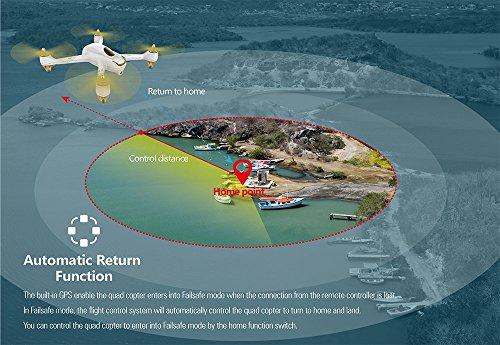 Hubsan H501S X4 Brushless FPV GPS Quadrocopter 5.8 Ghz Drohne mit 1080P Full HD Kamera und Follow-Me Modus RTH-Funktion Weiß&Gold - 4