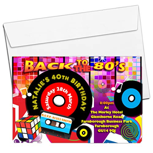 Back to the 80s Party Invites - personalised