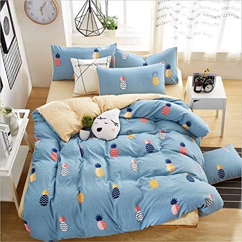 SHJIA Home Bettwäsche-Sets Druck Tröster Bettbezug Set Größe Single Full Double Queen King F 180x220cm -