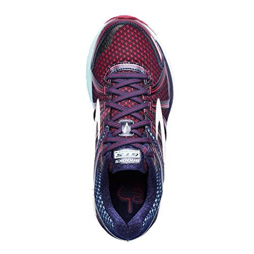 Brooks Damen Adrenaline Gts 17 Laufschuhe, Silver/Purplecactusflower/Blue Blau (Limpet Shell/evening Blue/virtual Pink)