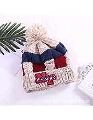 Chapeau Bluetooth chapeau en tricot de Noël hiver nouvelle dame chaude chaude chapeau bleu