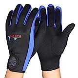 Alomejor 1 Paar/Set 3 Farben Tauchen Neopren Schnorcheln Kajakfahren Surfen Wassersport Handschuhe(M-Schwarz Blau)