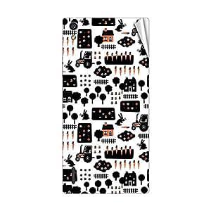 Garmor Designer Mobile Skin Sticker For Huawei Ascend P7 - Mobile Sticker