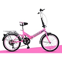 XQ XQ-TT-623 Bicicleta plegable 20 pulgadas 6 velocidades rosa