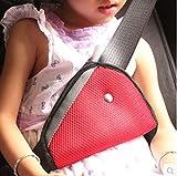 zanasta® Auto Kinder Kleinkind Sicherheitsgurtschoner Polster Abdeckung Vorrichtung Sicherheitsleine Bügel Gurt einstellbar in Rot