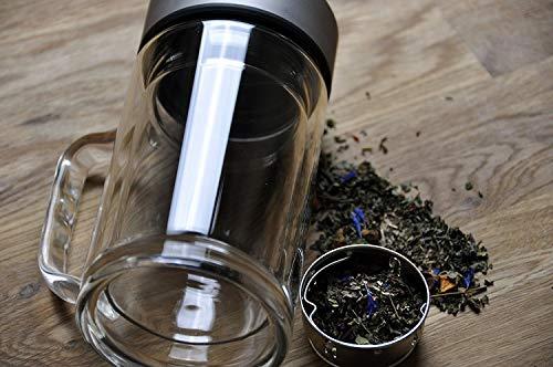 Pareti Con Bottiglie Di Vetro : Teiera con manico ml di tenuta tè di vetro a doppia