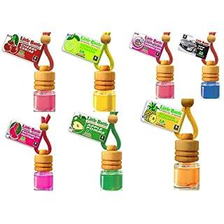 7 Little Bottle Duftflakons für Auto + Wohnung BESTSELLER TESTPAKET