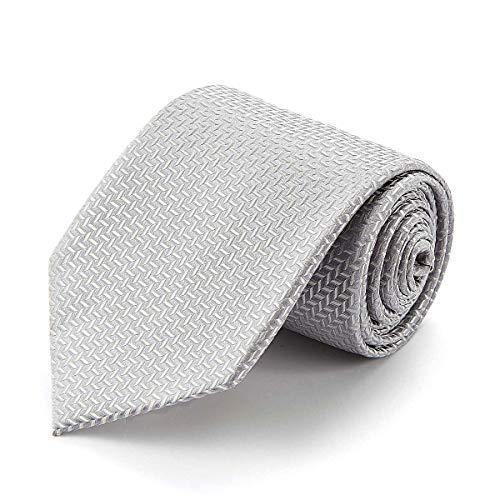 Preisvergleich Produktbild Chris Vu Seidenkrawatte,  breit,  silber,  gemustert
