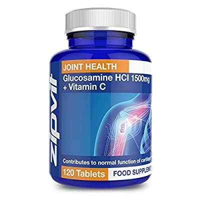 Glucosamine HCl 1500mg | 120 Tablets | Joint Health | Supports Normal Cartilage Function | 4 MONTHS SUPPLY by Zipvit