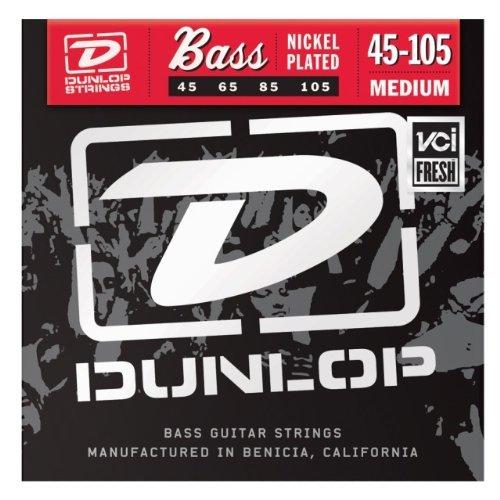 Dunlop DL STR DBN 045/105 2 NPS Saite für Bass-Gitarre (2-er Pack, Medium)