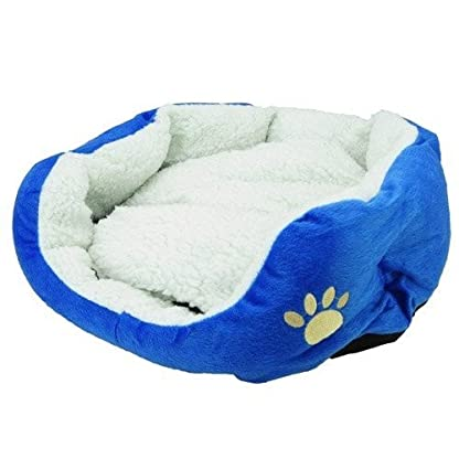 Gift New Coffee Warm Soft Fleece Pet Dog Cat Bed House with Mat Soft Pad Mat 4