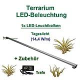 Aquarium-Plüderhausen Terrarium LED Beleuchtung Wüsten Reptilien Pflanzen LED 100 cm Set1 Leuchtbalken