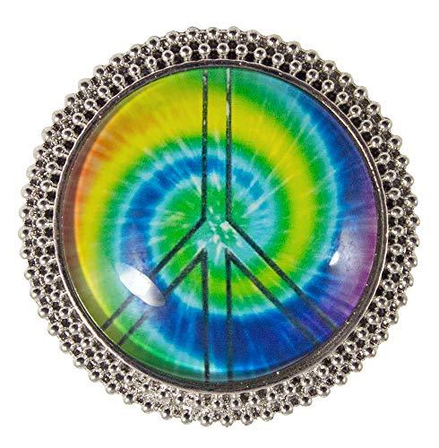 ace Zeichen Multicolor - Klein - Schmuck Zubehör zum 80er Jahre Hippie Kostüm ()