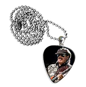 Carlos Santana (WK) Live Performance Guitare Mediator Pick Collier Necklace