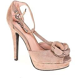 Yamamay Damen High Heel Wildleder Taupe, Schuhgröße:37