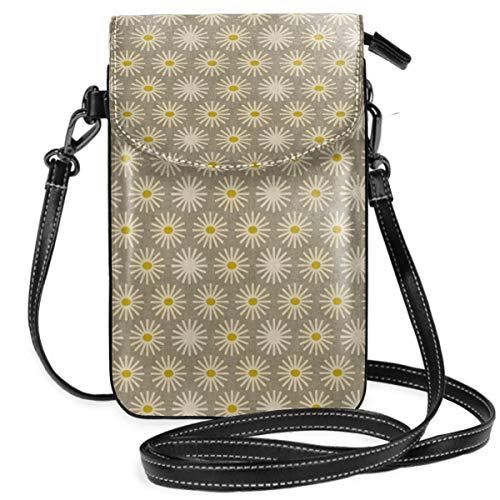 Suminla-Home Kleine Handybörse mit abnehmbarem Riemen für Handys, Motiv Feuerwerk, Sonnenblume, Smartphone-Geldbörse