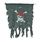 Cosplay Kostüm Halloween Tattered Rot Bandana Fahne Pirat Totenkopf Skull &Knochen Flagge, Zum Aufhängen
