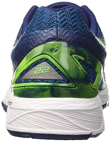 Asics Gel-Ds Trainer 22, Chaussures de Tennis Homme Bleu (Indigo Blue/green Gecko/thunder Blue)