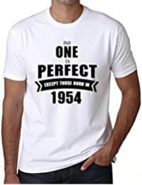 1954, No One Is Perfect, nadie es perfecto camiseta, eslogan camiseta hombre, camiseta regalo, regalo hombre