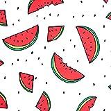 0,5m Jersey Jersey Melone Wassermelone Weiß Motivgröße