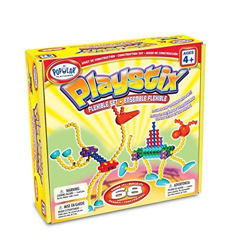 Leisen Fabricantes 58134 - Playstix Conjunto Flexible, 68 Partes