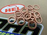 15x HEL Motorcycle Bike Car Brake Line Banjo Bolt Copper Crush Washers M10