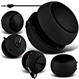 Rechargeable 3.5mm Capsule Speaker with USB cable for Tesco Hudl 2 8.3 inch Wi-fi Tablet (Black)