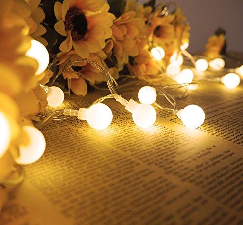 Lichterkett,LED Lichterketten Batteriebetrieben 5m 25er Lichtschlauch mit Batterie Kugeln Warmswei für Innen Außen Zimmer Garten Partei CE Geprüft und Niederspannung Sicher