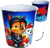 Unbekannt Papierkorb / Behälter -  Paw Patrol - Hunde  - 8 Liter - aus Kunststoff - Spielzeugkorb / Popcornschüssel / Mülleimer Eimer - auch als Blumentopf nutzbar - ..