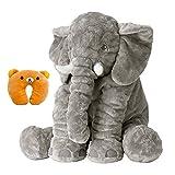 Oreiller Elephant , Animal mignon, Elephant Oreiller Throw Coussin, éléphant Dormir farcies peluche Oreillers peluche Peluches pour bébé d'enfants tout-petits bébés cadeaux (gris)