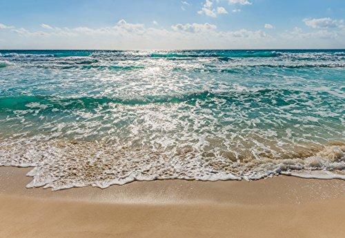 Preisvergleich Produktbild Fototapete SEASIDE 368x254cm türkis-blaues Meer, Strand, Sonne, Brandung, Wellen