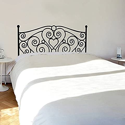 Headboard Wall Decal Square heart Wall Sticker Bedroom Wall Decal Shabby Chic Wall Decor Wall Graphic Bedroom Wall Decoration