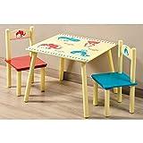 Kesper Kinder-Tisch mit 2Stühlen, Fiberboard-Set, Mehrfarbig
