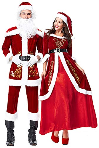 Mr and Mrs Santa Claus Couples Costumes for Man and Women