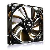 AAB Cooling Super Silent R12 - Leise und Efizient 120mm Gehäuselüfter mit 4 Anti-Vibration-Pads und 9V Spannungsreduzierer - CPU Kühler | Ventilator | Computer | Ventilator 12V | Gehäuselüfter 120mm