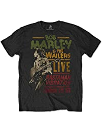 Bob Marley Special Edition Tours That Rocked The World: Rastaman Vibration Tour 1976 Men's T-Shirt