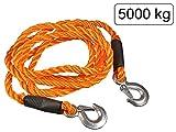 Abschleppseil 4m - elastisch und robust - aus Kunstfaser Orange - Belastbarkeit max. 5000 kg