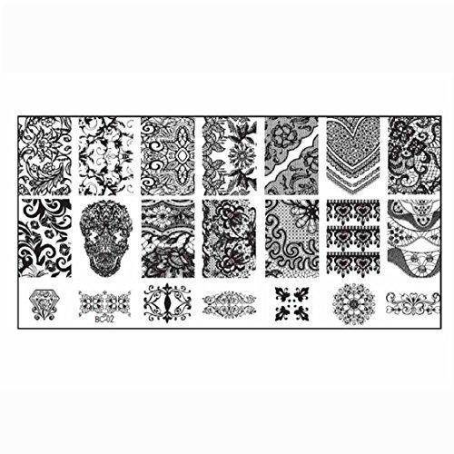 Vovotrade 1PCS Nail image de timbre Stamping Plate Imprimer Nail Art Modèle bricolag
