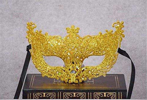 Masken Gesichtsmaske Gesichtsschutz Domino falsche Front Kinder Damen Hohl Kleine Fuchs Fee Gold Maske Chip Venedig Kostüm Tanz Performance Fotografie liefert Gelb