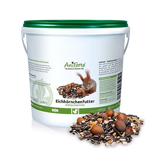 AniForte Garden Premium Eichhörnchenfutter 1 kg für Eichhörnchen und Streifenhörnchen- versch. Größen- Naturprodukt für Eichhörnchen Test