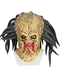 DealTrade Halloween Casque Costume Cosplay Masque Latex Adulte 1  1  Réplique Effrayant Déguisement Jungle Hunter 443557f111f